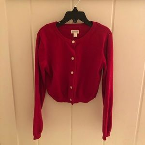 Gymboree red button front cardigan